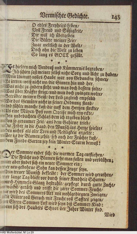 Deutsches Textarchiv Abschatz Hans Assmann Von Poetische