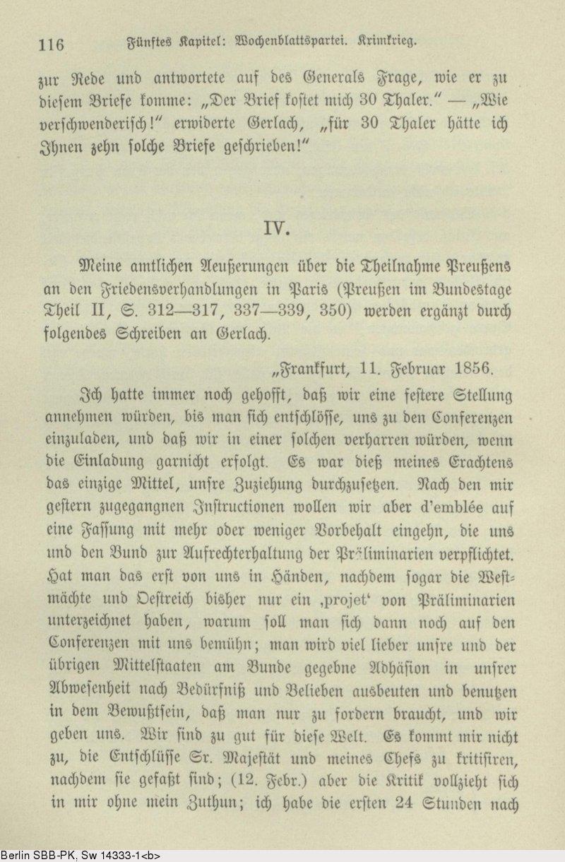 Deutsches Textarchiv Bismarck Otto Von Gedanken Und Erinnerungen