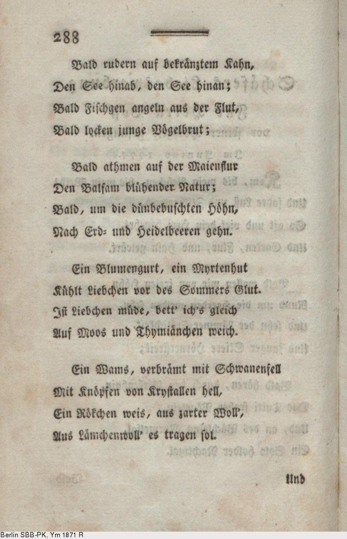 Deutsches Textarchiv Bürger Gottfried August Gedichte