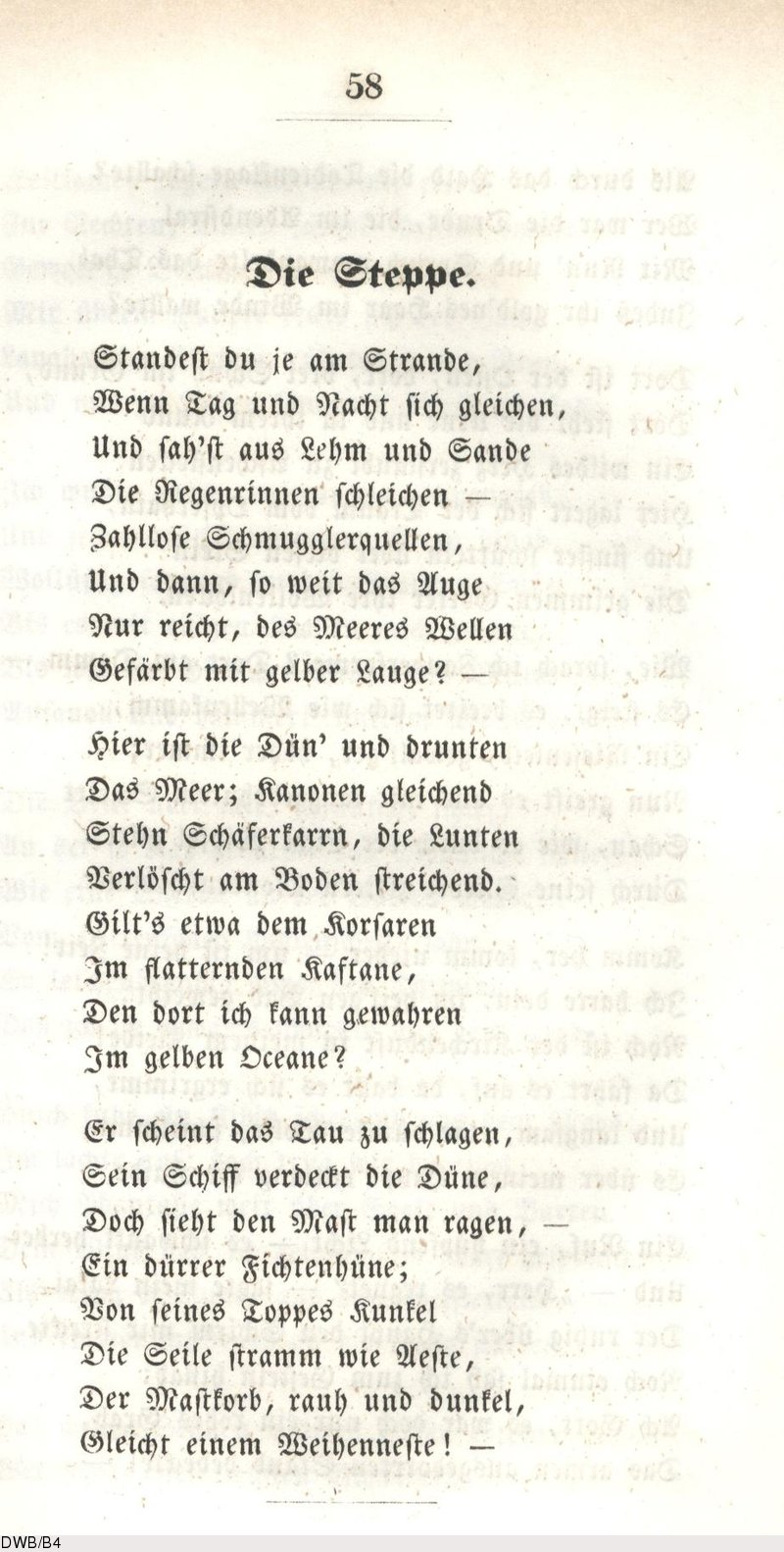 Deutsches Textarchiv Droste Hülshoff Annette Von