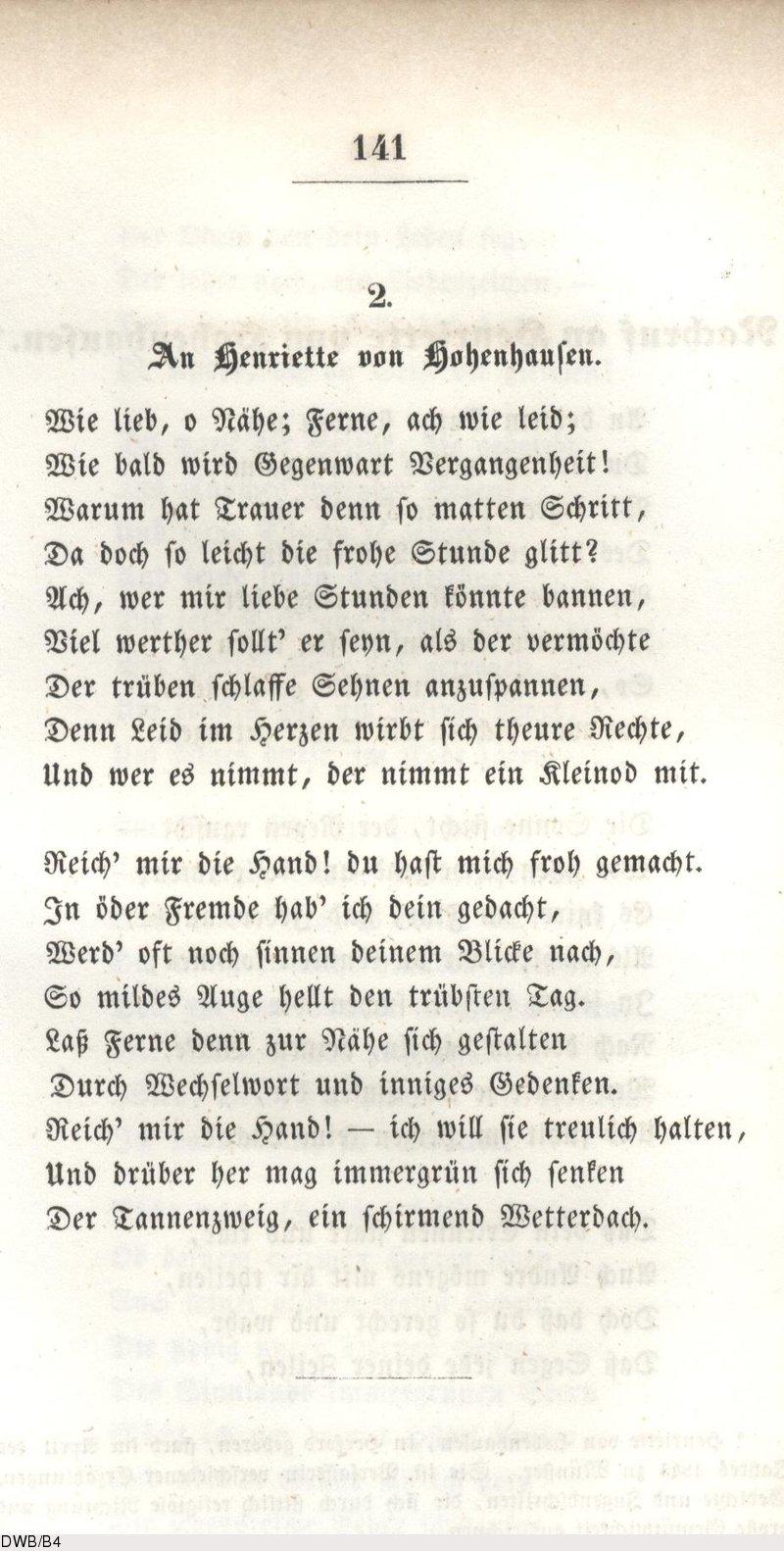 Gedicht Ferne Feine Ferne Dinge Gedichte German Fine