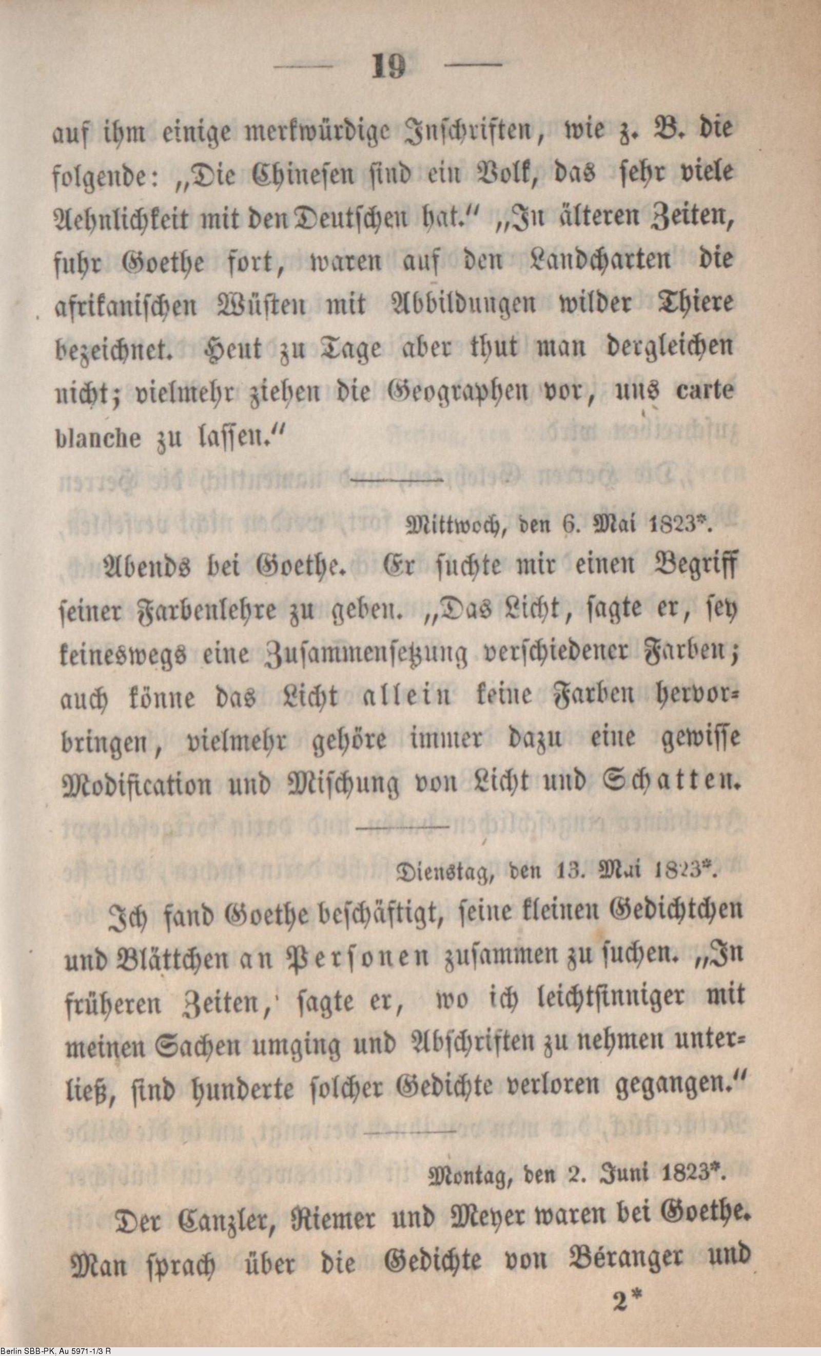 Deutsches Textarchiv Eckermann Johann Peter Gespräche