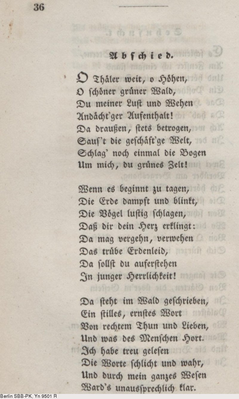 Deutsches Textarchiv Eichendorff Joseph Von Gedichte