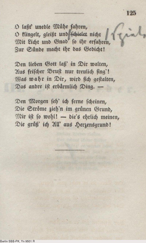 Gedicht ferne