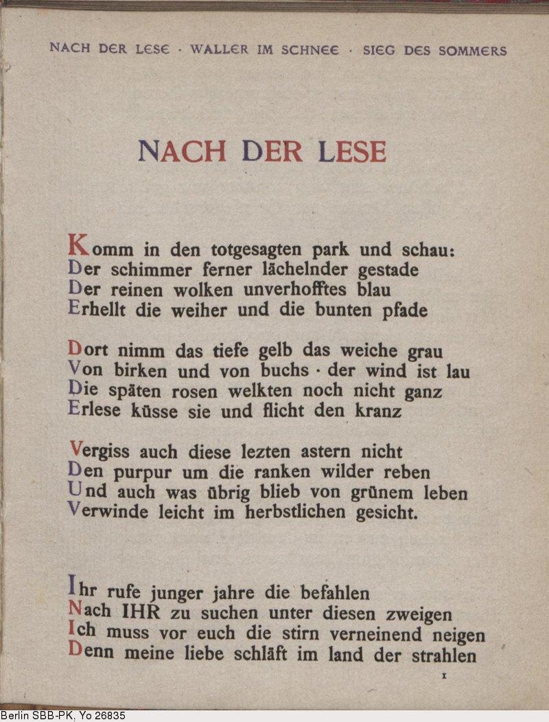 Deutsches Textarchiv George Stefan Das Jahr Der Seele
