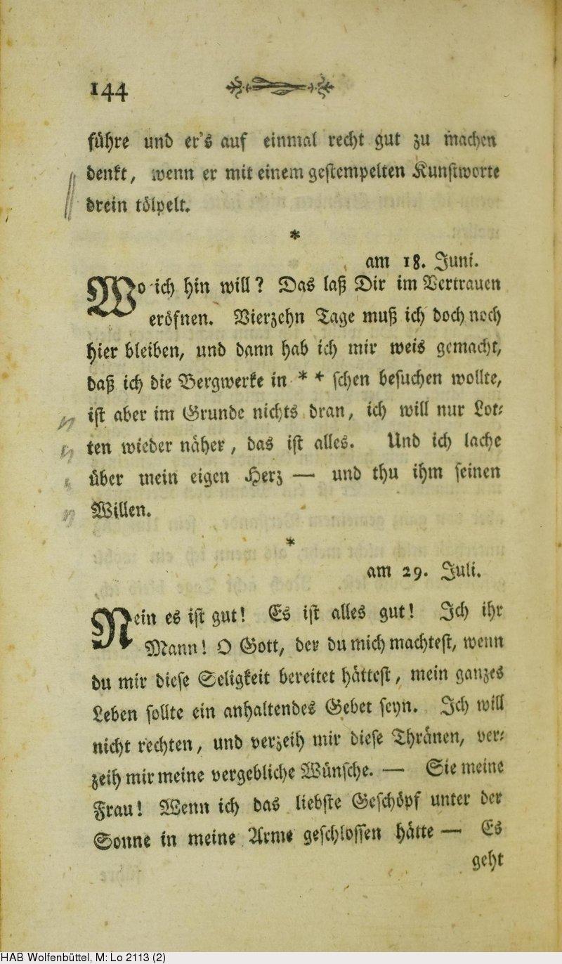 Deutsches Textarchiv Goethe Johann Wolfgang Von Die Leiden Des