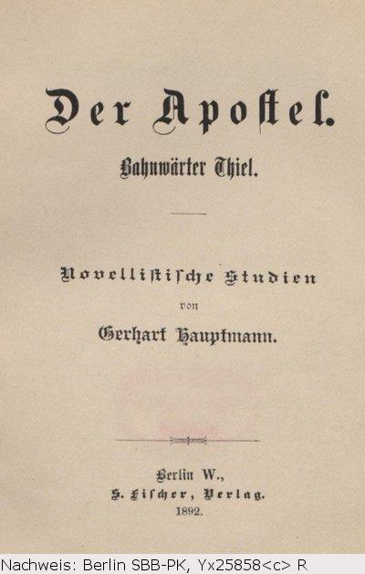 gerhart hauptmann bahnwärter thiel pdf