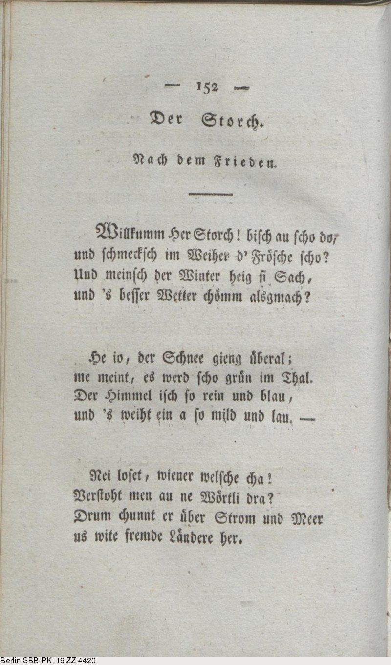 Deutsches Textarchiv Hebel Johann Peter Allemannische