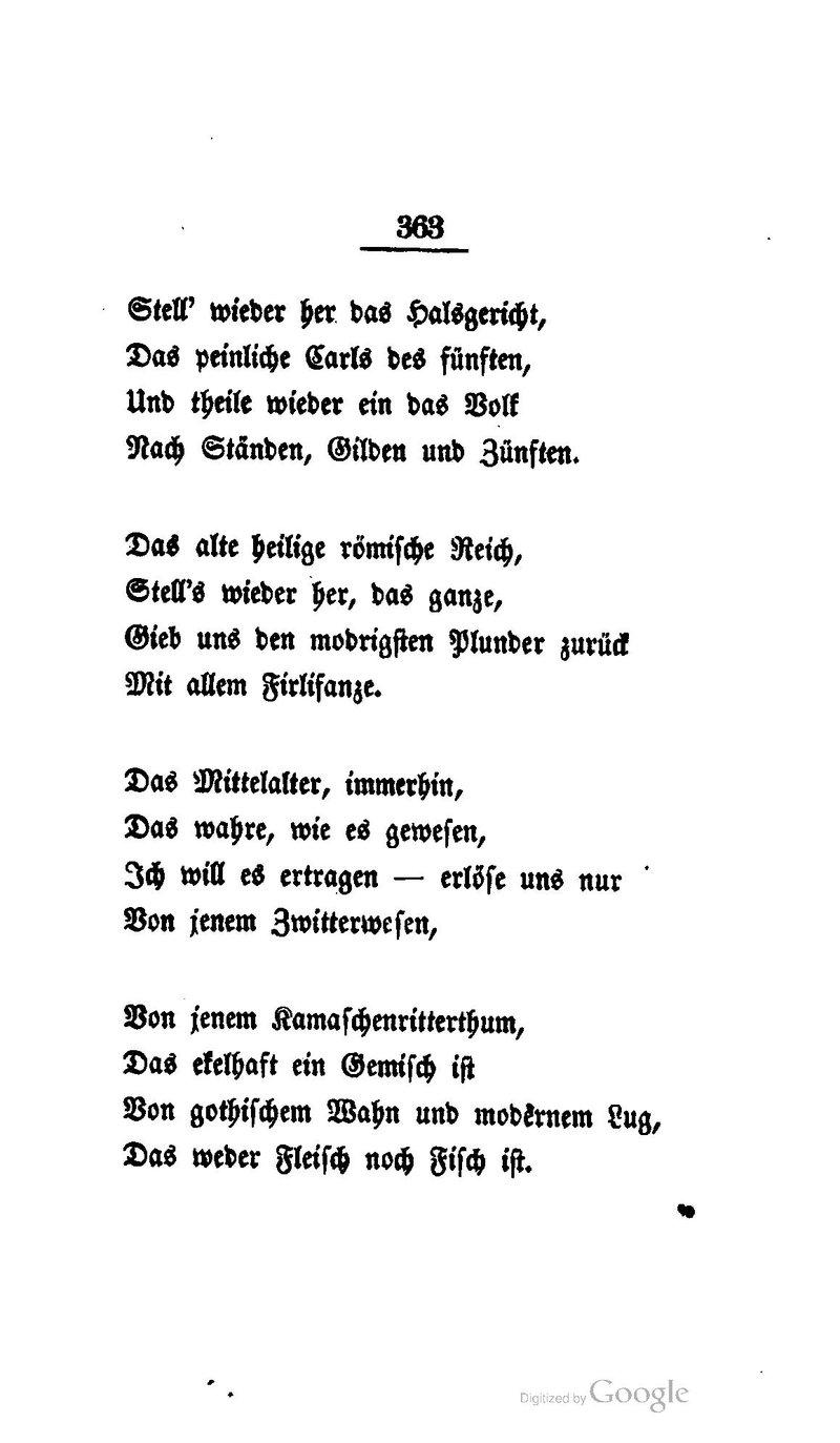 Deutsches Textarchiv Heine Heinrich Deutschland Ein
