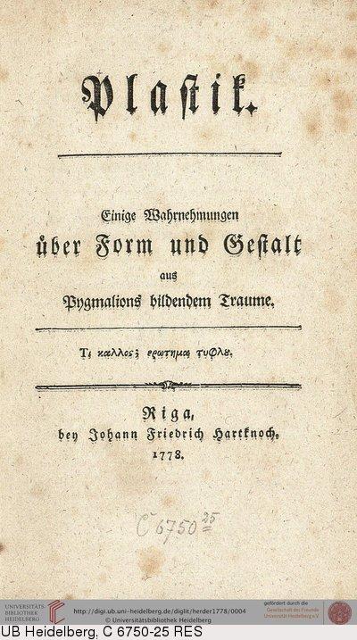 Johann Gottfried Herder plastik
