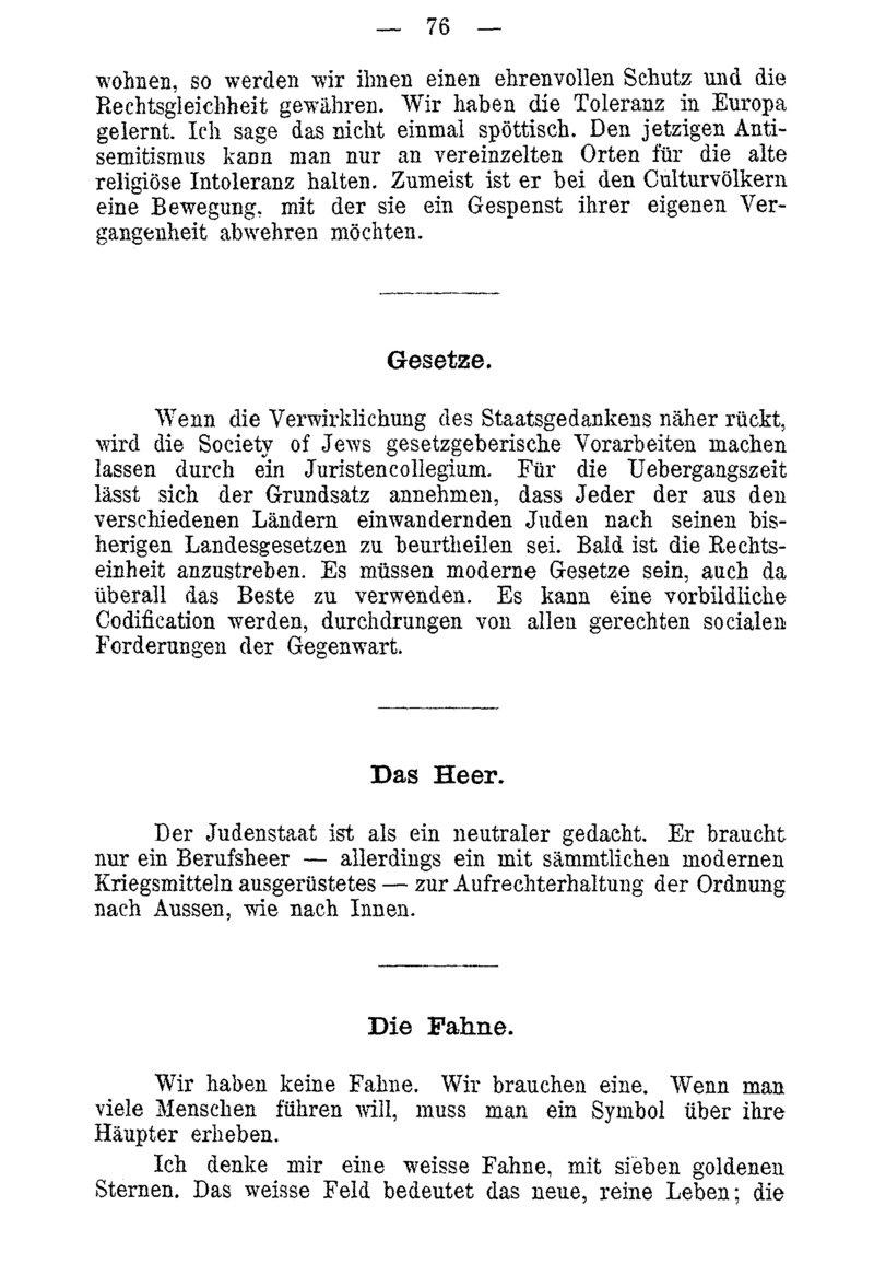 Deutsches Textarchiv Herzl Theodor Der Judenstaat Versuch