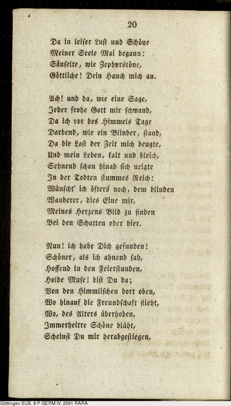 Deutsches Textarchiv Hölderlin Friedrich Gedichte