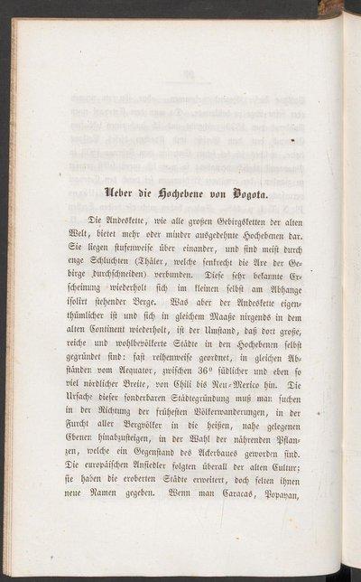 Humboldt, Alexander von: Über die Hochebene von Bogota. In: Ders.: Kleinere Schriften. Erster Band. Geognostische und physikalische Erinnerungen. Stuttgart und Tübingen, 1853, S. 100-132.