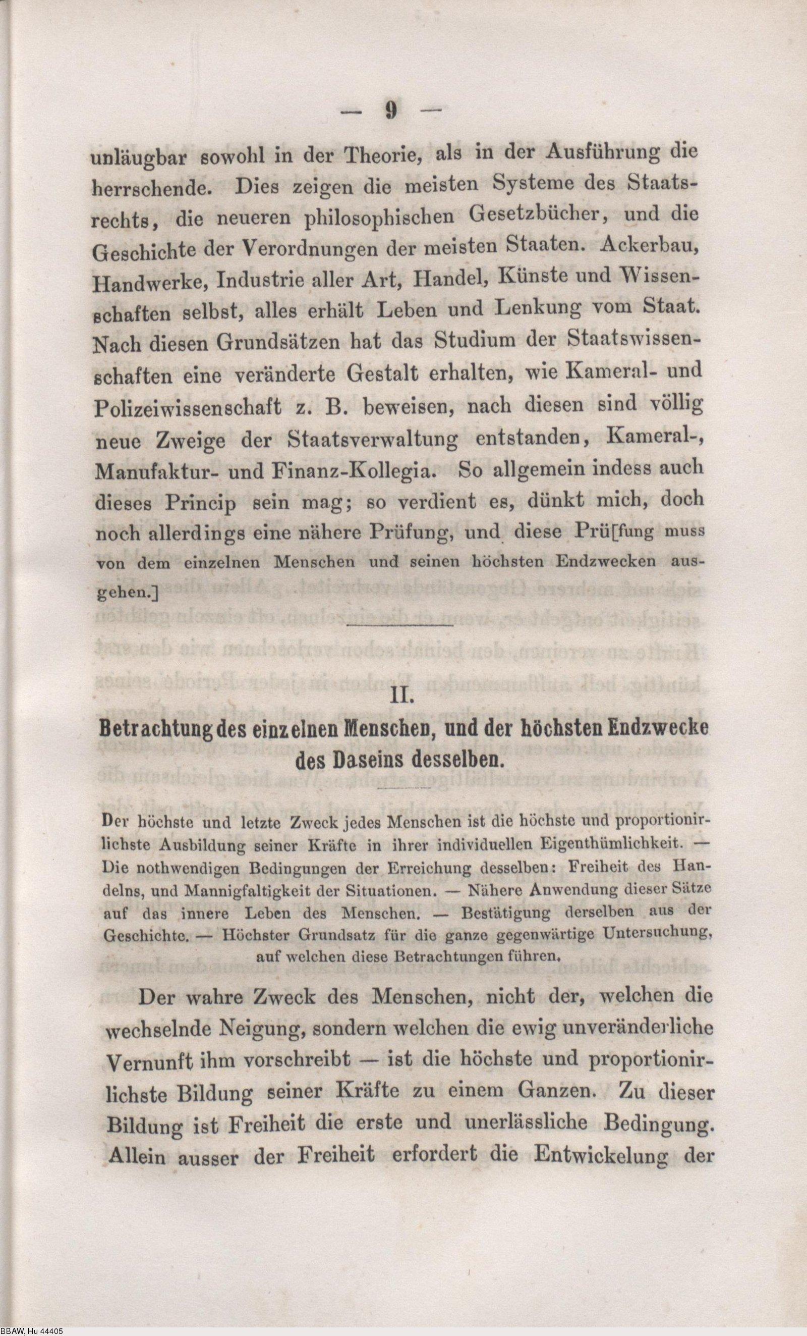 Deutsches Textarchiv Humboldt Wilhelm Von Ideen Zu Einem