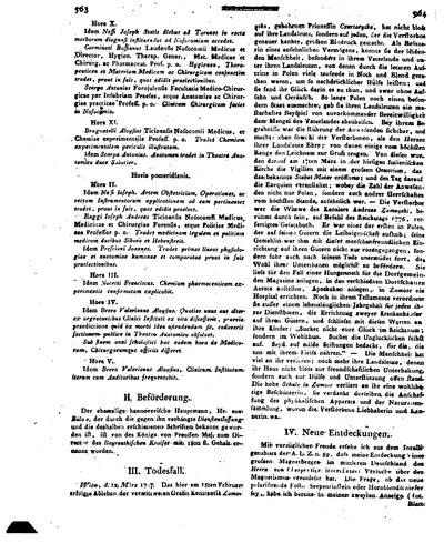 Humboldt, Alexander von: Neue Entdeckungen [betr. Magnetberg am Fichtelgebirge.]. In: Allgemeine Literatur-Zeitung. Intelligenzblatt, Bd. 2, Nr. 68 (1797), Sp. 564-568.