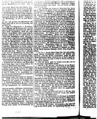 Humboldt, Alexander von: [Rede an die Potsdamer Stadtverordneten bei Empfang des Ehrenbürgerbriefes von Potsdam, 21. Okt. 1849]. In: Berlinische Nachrichten von Staats- und gelehrten Sachen, Nr. 253 (1849), S. [2-3].