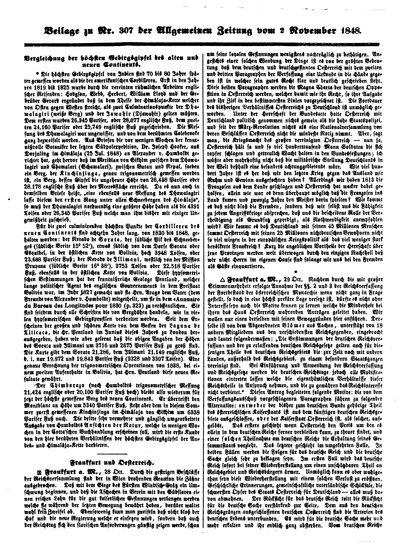 Humboldt, Alexander von: Vergleichung der höchsten Gebirgsgipfel des alten und neuen Continents. In: Allgemeine Zeitung. Nr. 307, Beilage vom 2[.] November 1848 (1849), S. 4841.