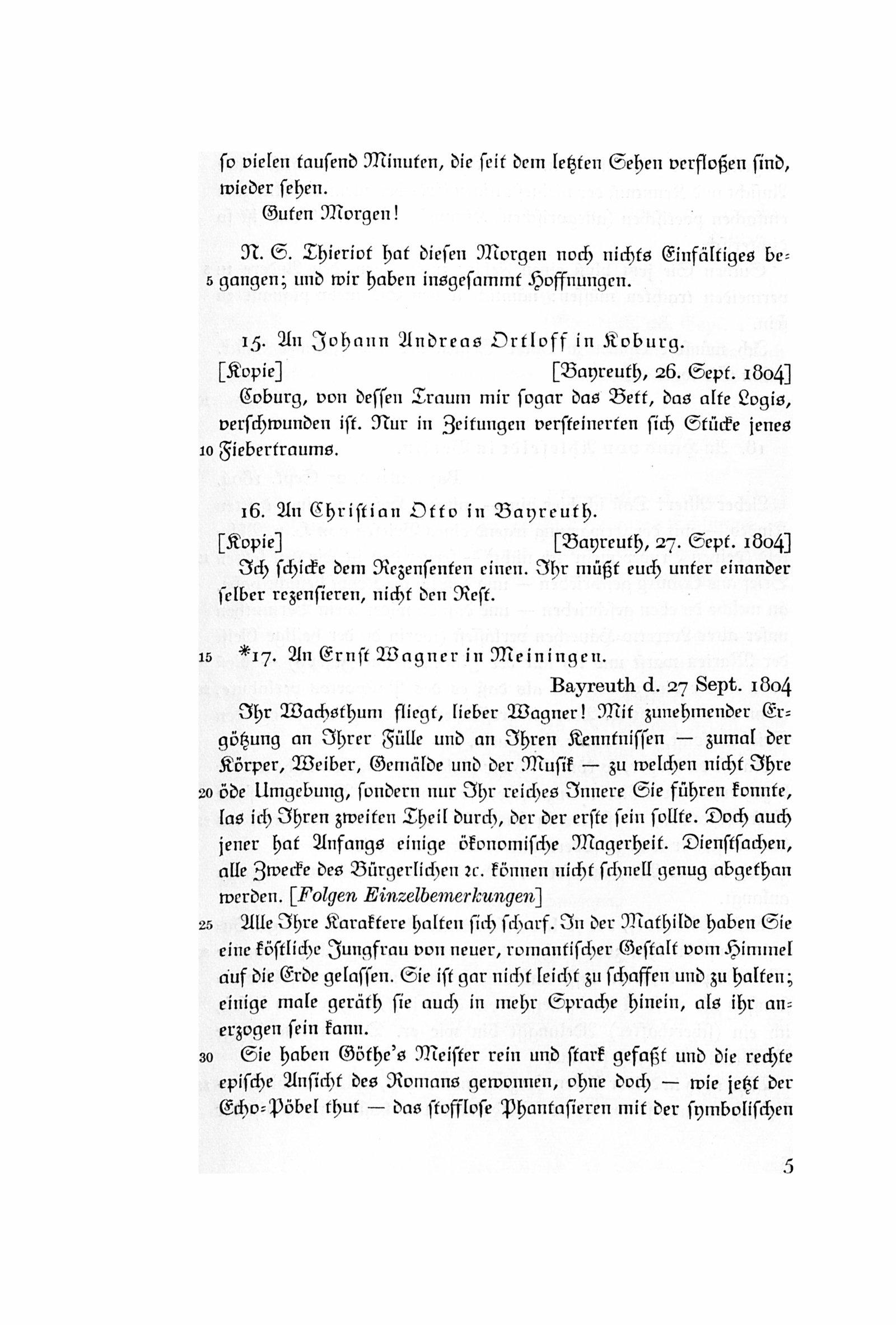 Deutsches Textarchiv Jean Paul Dritte Abteilung Briefe