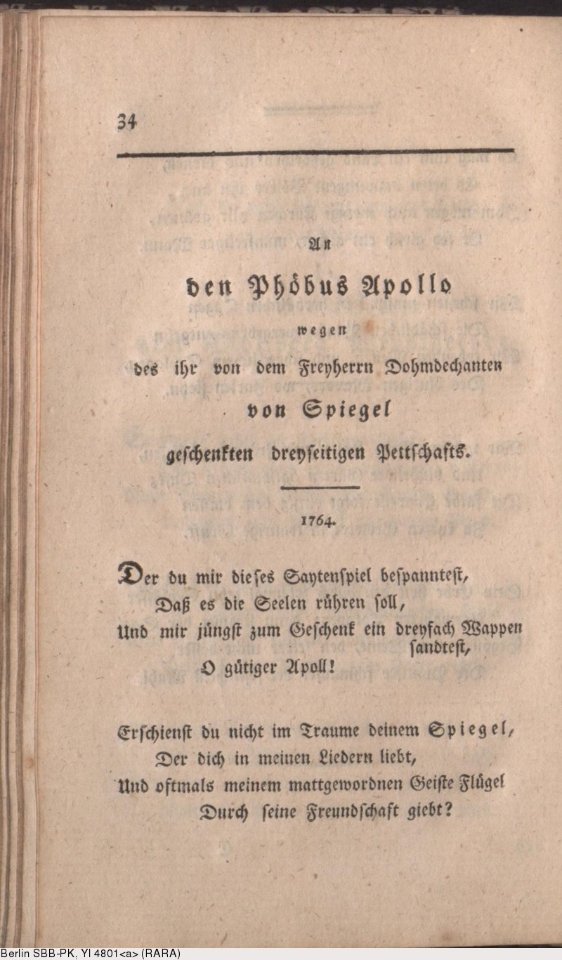 Deutsches Textarchiv Karsch Anna Luise Gedichte Berlin