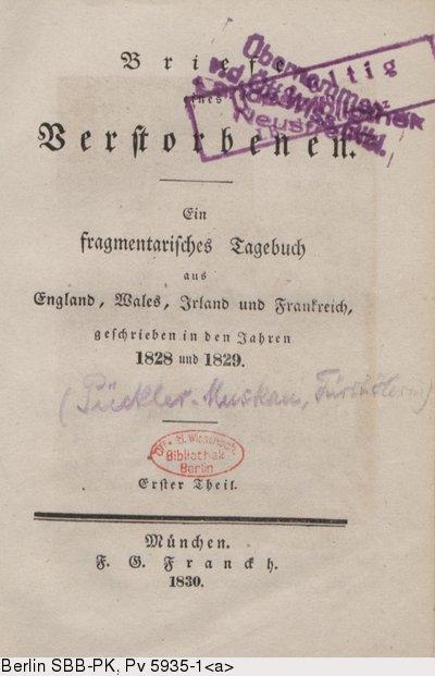 Briefe Von Wehrmachtssoldaten : Deutsches textarchiv pückler muskau hermann von briefe