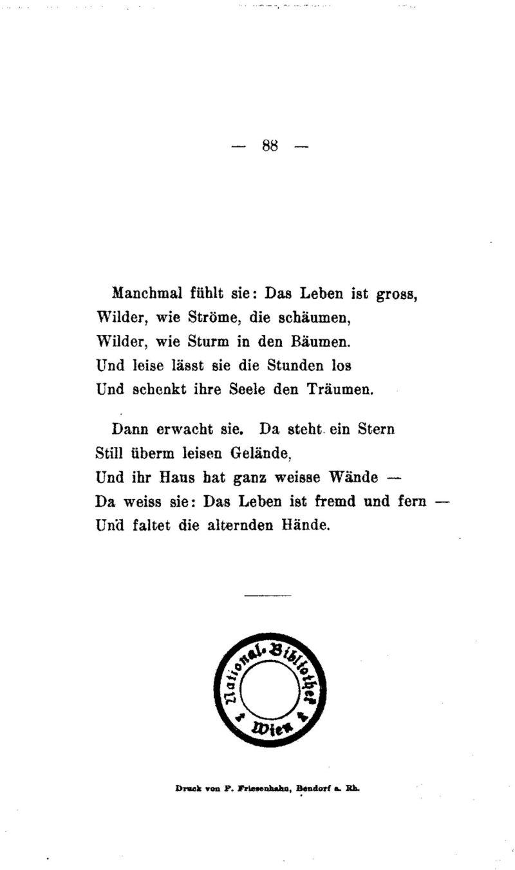 Deutsches Textarchiv Rilke Rainer Maria Advent Leipzig