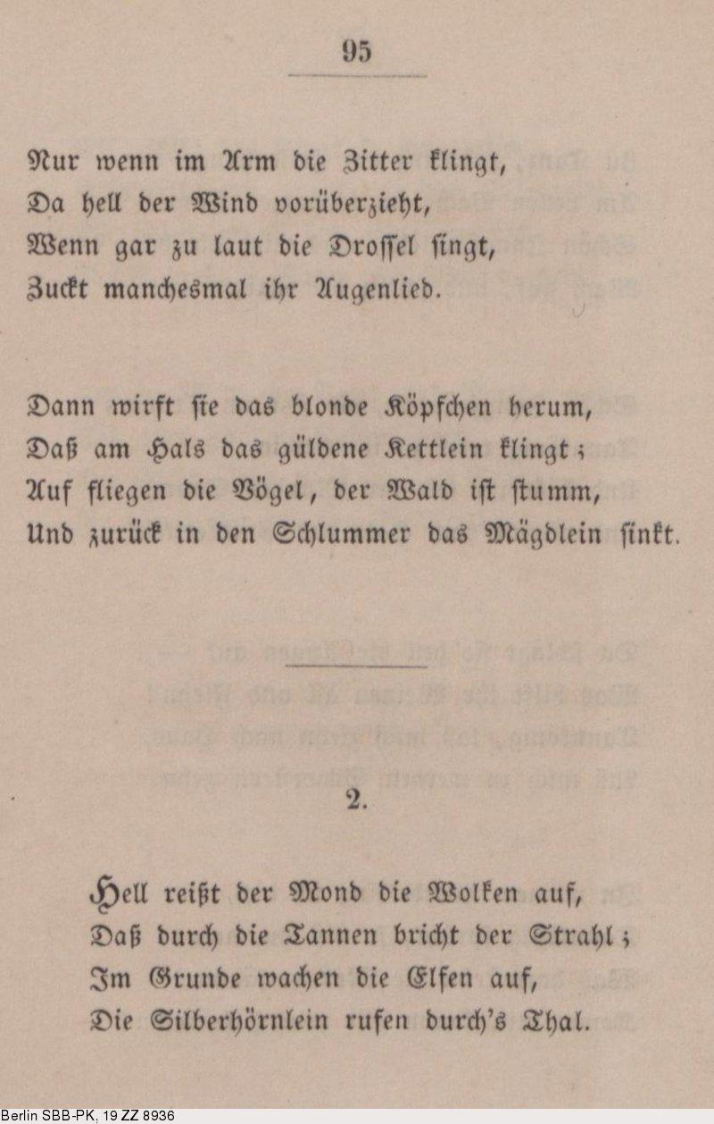 Deutsches Textarchiv Storm Theodor Gedichte Kiel 1852