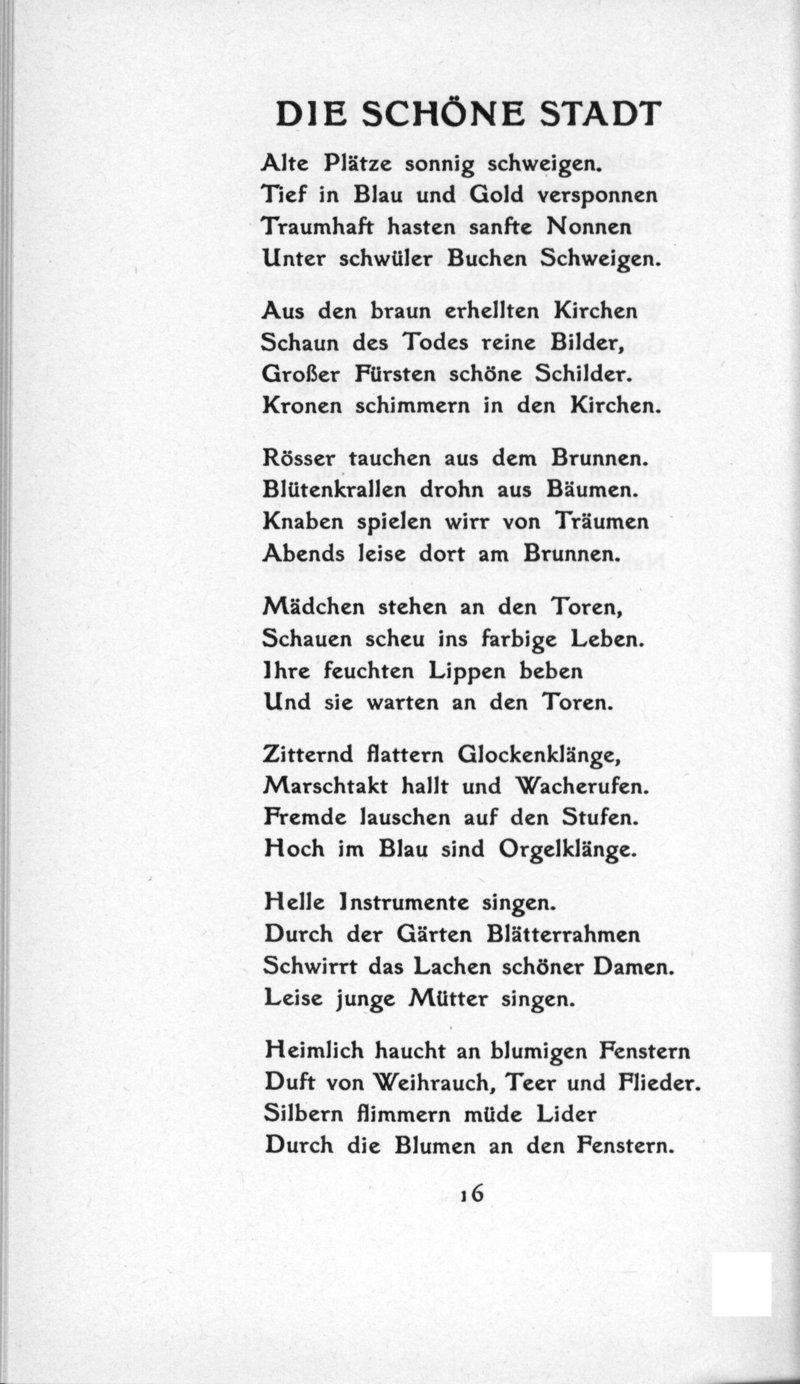 Gedichte Und Bilder.Deutsches Textarchiv Trakl Georg Gedichte Leipzig 1913