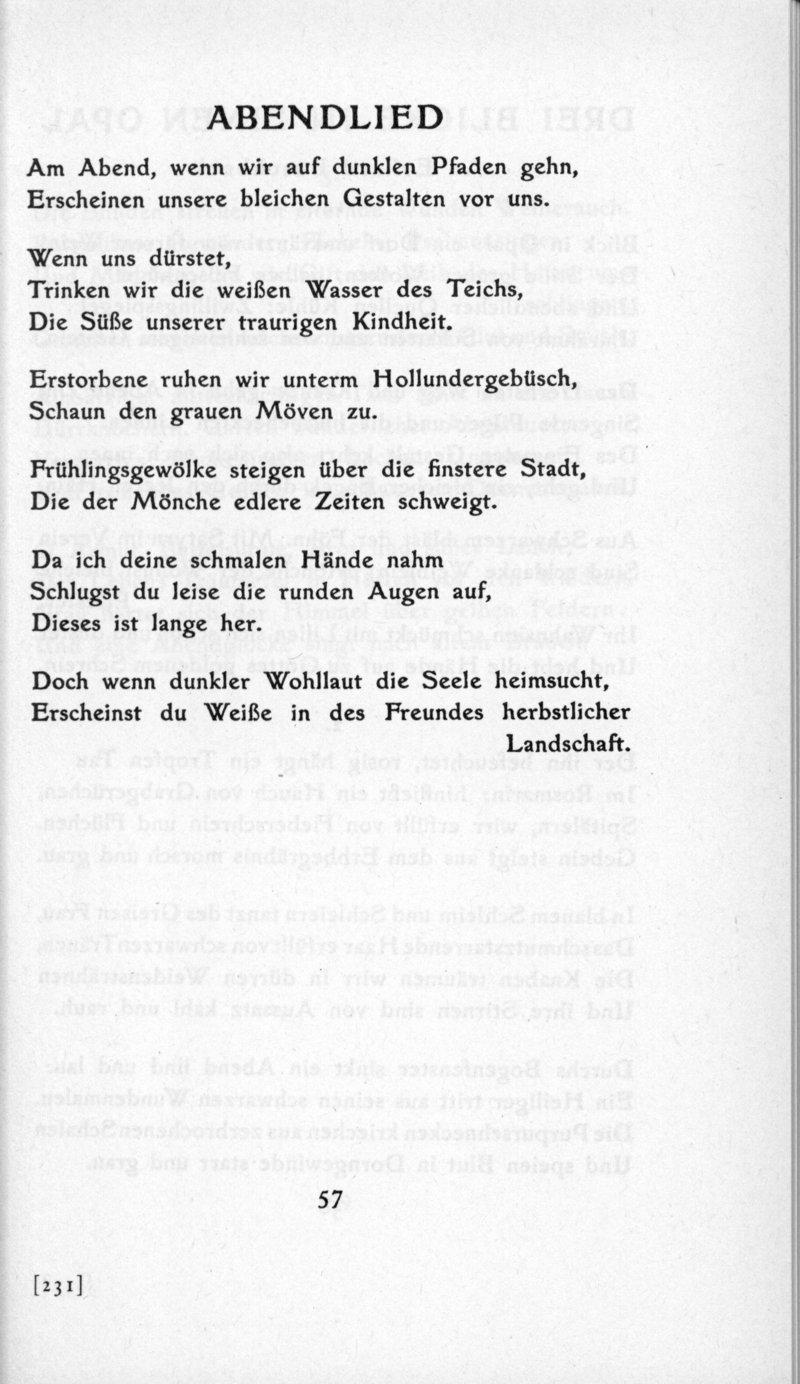 Deutsches Textarchiv Trakl Georg Gedichte Leipzig 1913