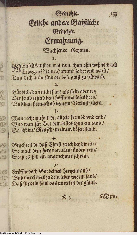 Deutsches Textarchiv Weckherlin Georg Rodolf Gaistliche