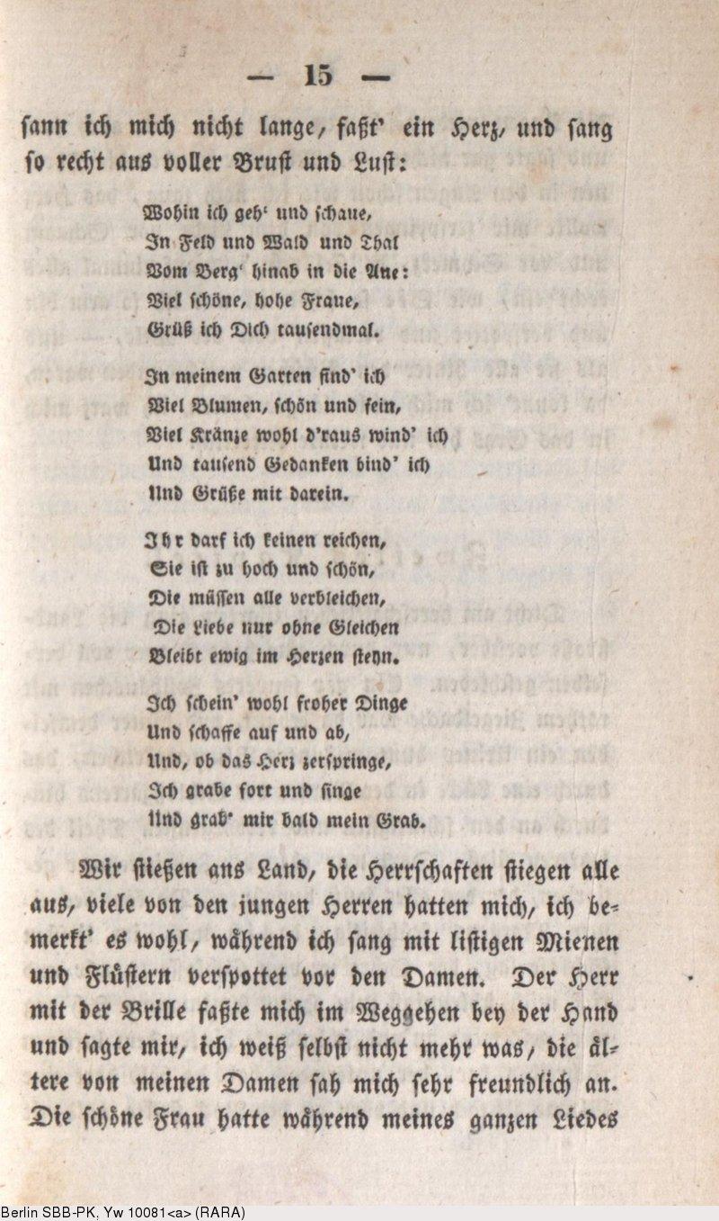 Deutsches Textarchiv – Eichendorff, Joseph von: Aus dem Leben